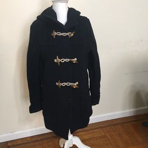 Topshop Jackets & Coats - TopShop Coat Womens Size 8 Ribbed Blue Pockets